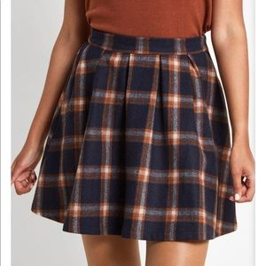 ModCloth plaid wool skirt